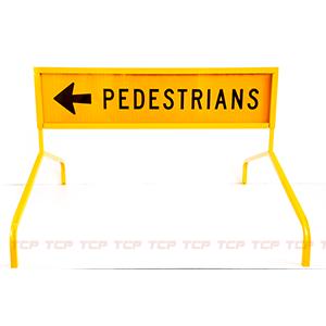 Pedsestrian Boxed Sign Edge on Bi Pod Leg Stands